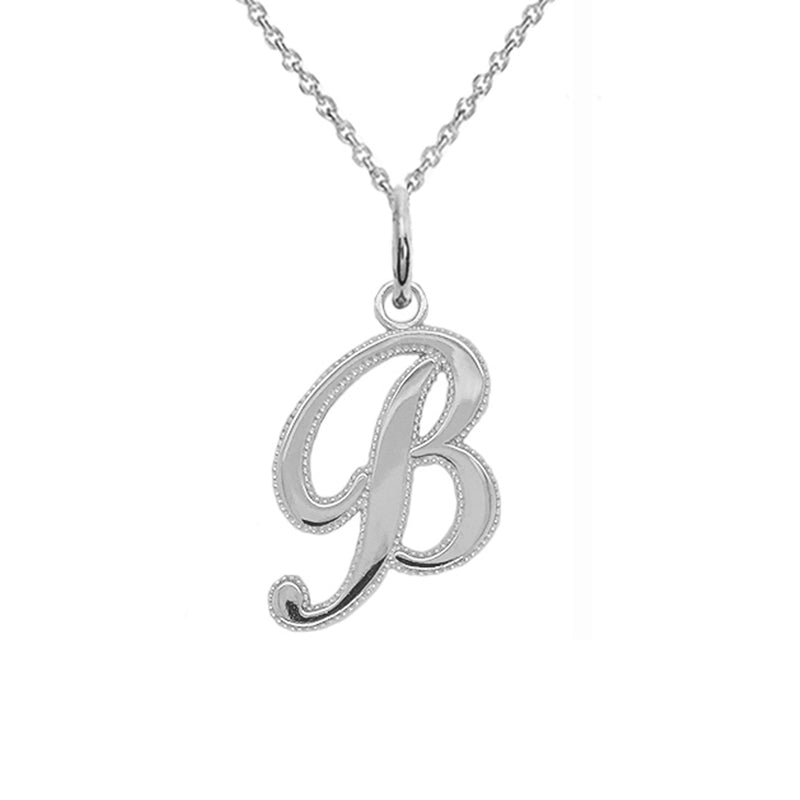 sterling silver b necklace