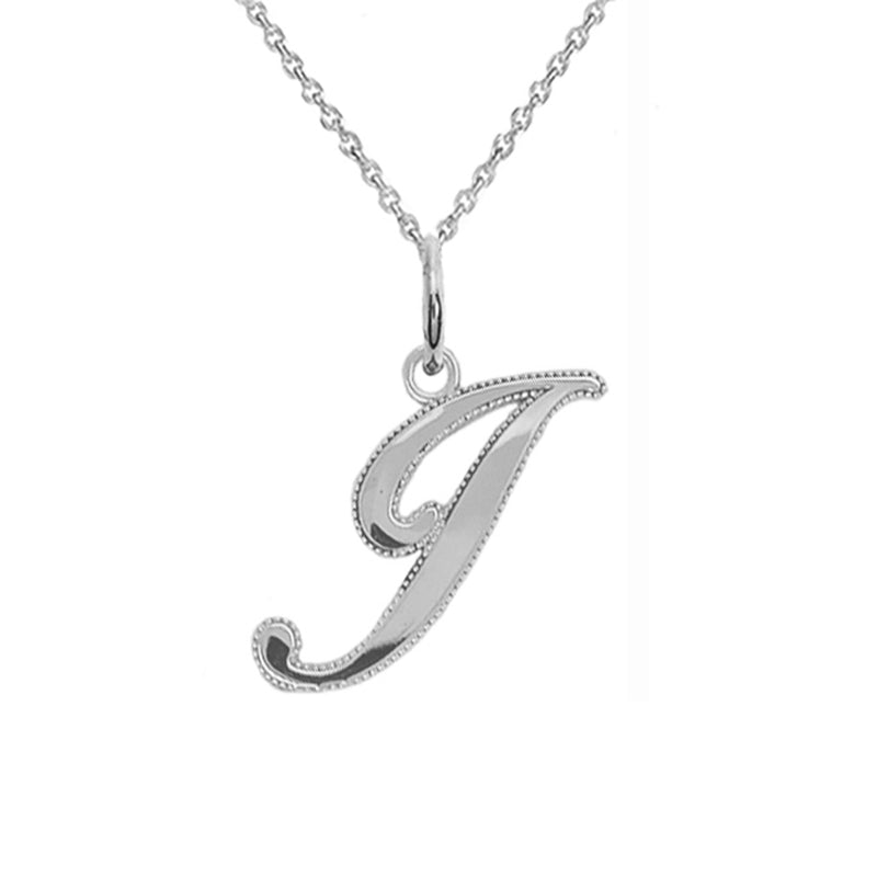sterling silver j pendant