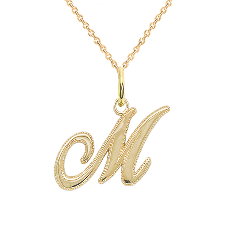 m initial necklace