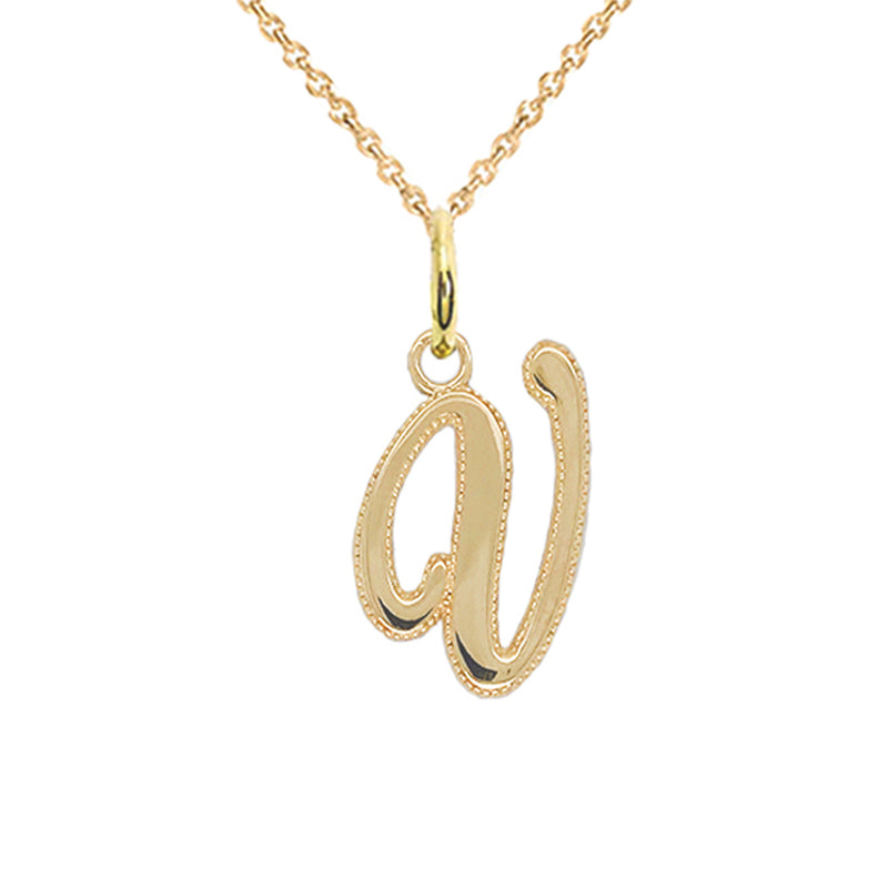 v initial necklace