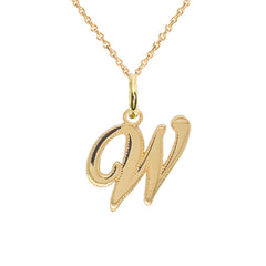 w initial necklace