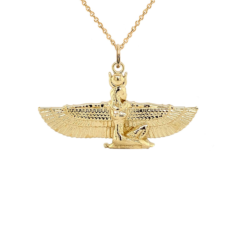 egyptian goddess pendant necklace