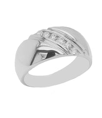 cz wedding bands sterling silver