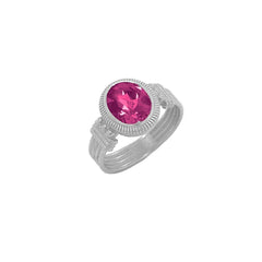 Milgrain Alexandrite Statement Ring in Sterling Silver