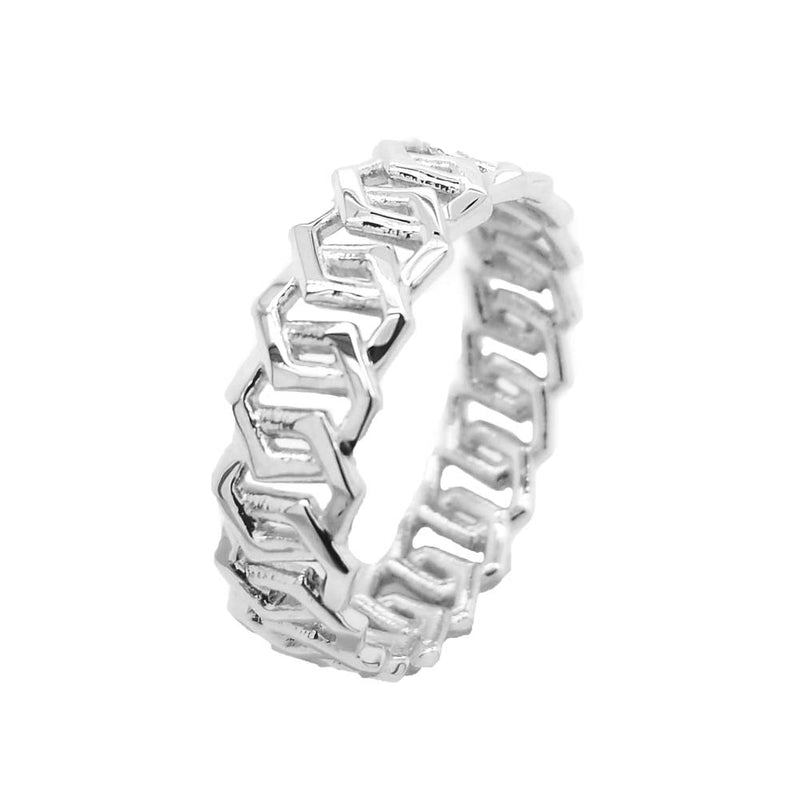 Sterling Silver Honeycomb Statement Band