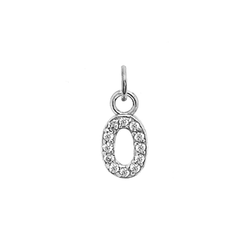 "Customizable Diamond Initial ""O"" Pendant Necklace in Solid Gold"