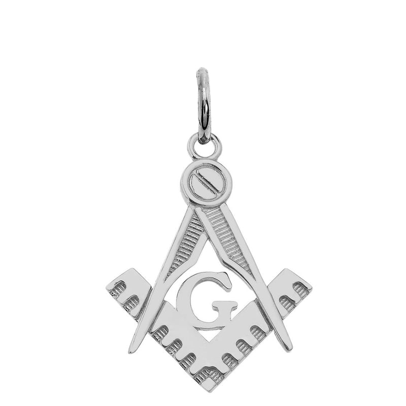 Sterling Silver Triangle Masonic Symbol Pendant Necklace