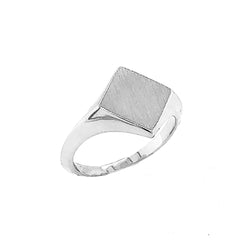 Square Face Signet Ring in Sterling Silver