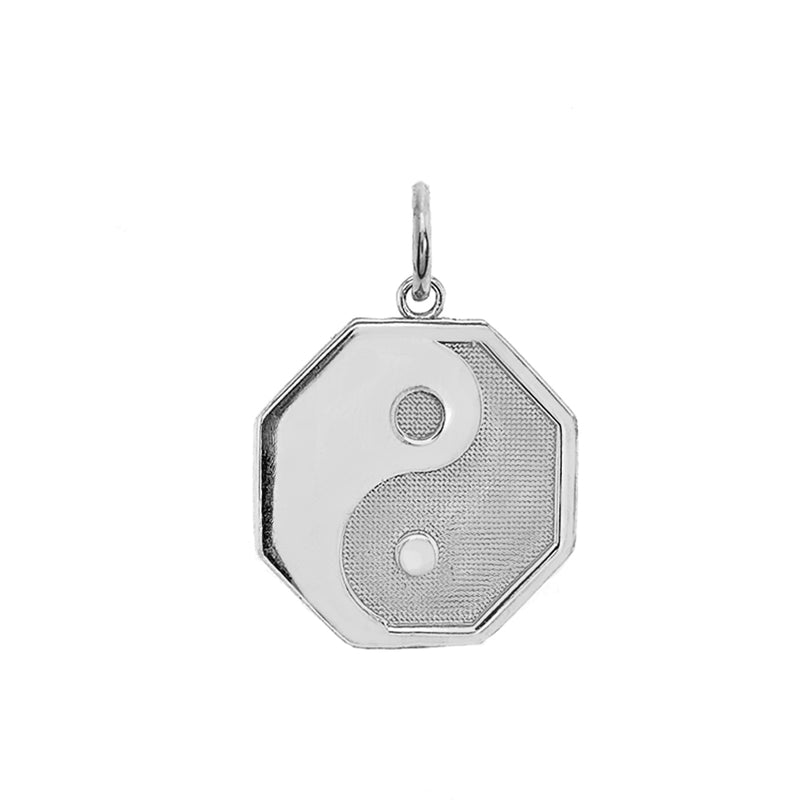 """Yin and Yang"" Symbol Charm Pendant/Necklace in Sterling Silver"