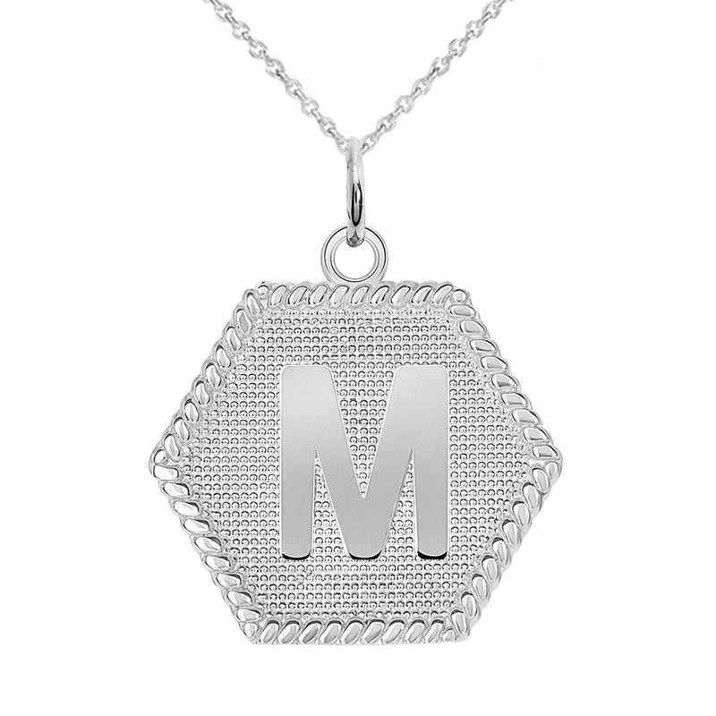 "Initial ""M"" Gold Medallion Pendant Necklace"
