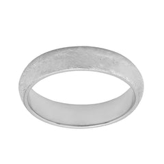 Sterling Silver Band Comfort Fit Satin finish 4.80 to 5mm