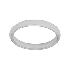 Sterling Silver Band Comfort Fit Satin finish 2.80mm to 3mm