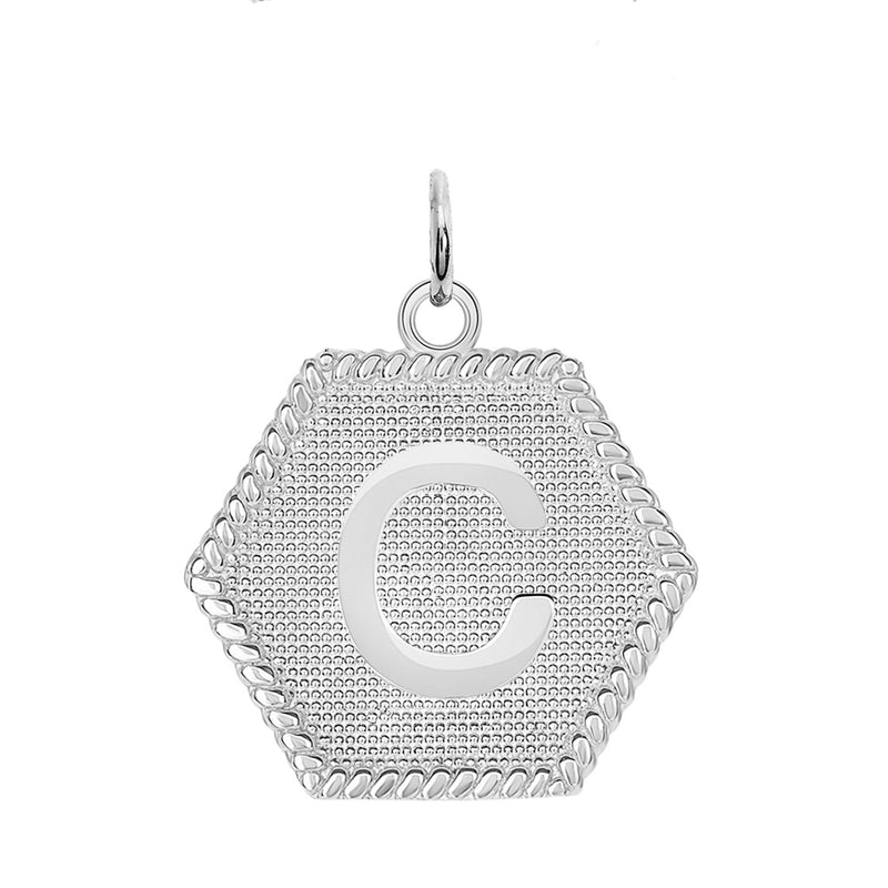 "Initial ""C"" Gold Medallion Pendant Necklace"