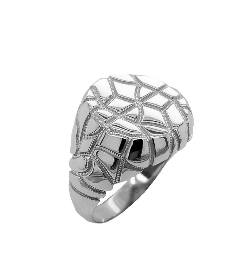 Nugget Ring In Solid Sterling Silver