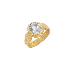 Milgrain Diamond Statement Ring in Solid Gold
