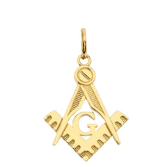Masonic Symbol Pendant Necklace in Solid Gold(Yellow/Rose/White)