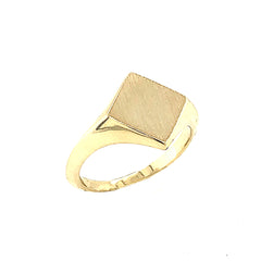 Square Face Signet Ring in Solid Gold