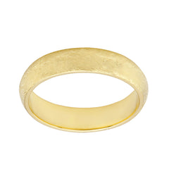 Solid Gold Band Comfort Fit Satin finish 4.80 to 5mm