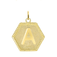 Initial A Gold Medallion Pendant Necklace