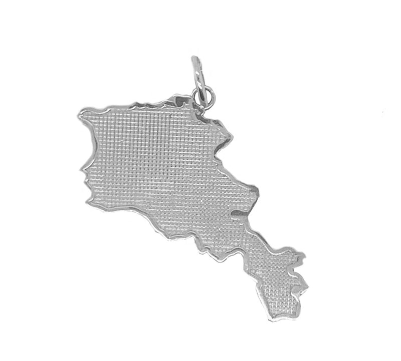 Armenia Map in Sterling Silver