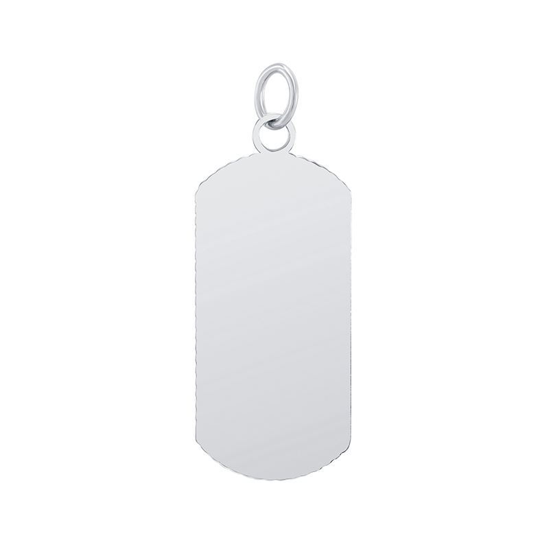 "Customizable Dog Tag Initial ""U"" Necklace/Pendant in Sterling Silver"