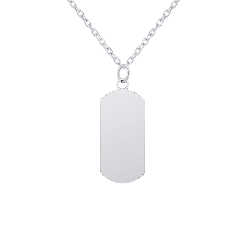 "Customizable Dog Tag Initial ""E"" Necklace/Pendant in Sterling Silver"