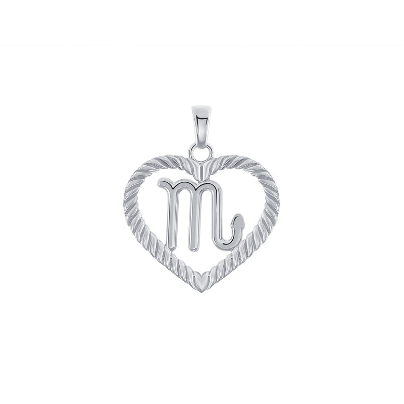 Scorpio Zodiac Pendant/Necklace in Sterling Silver