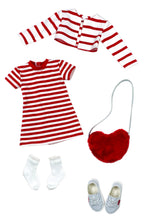 Load image into Gallery viewer, Hearts and Stripes Forever Outfit