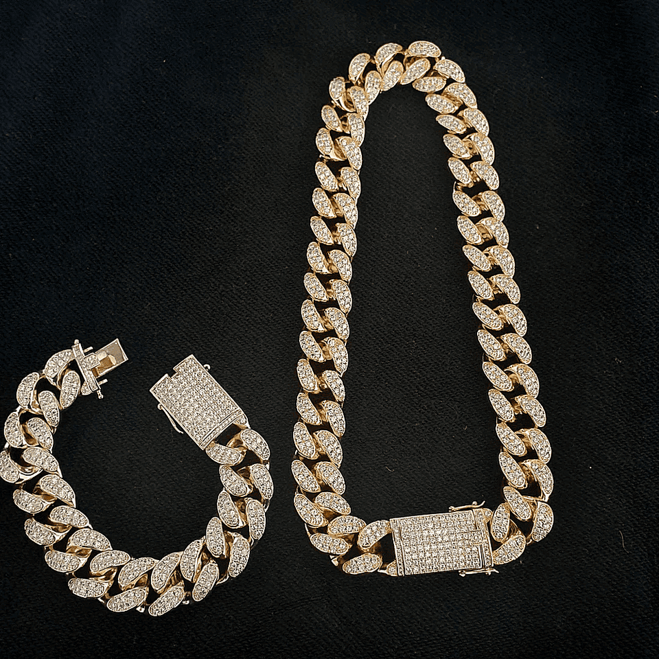 18k Gold/Silver Chain + FREE Bracelet Bundle - (TODAY ONLY) - no-stylist-bling