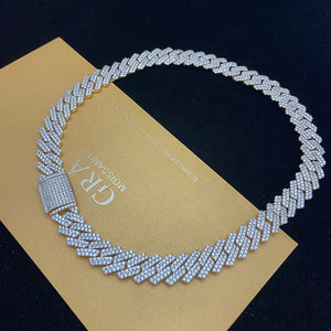 VVS Jewelry 925 Sterling Silver VVS1 Moissanite Cuban Chain