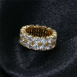 Hexagon CZ Bling Ring