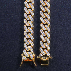 9mm Micro Pave Ultra Bling Women's Cuban Link Chain