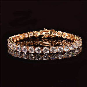 VVS Jewelry 6MM 24k Gold Tennis Bracelet - Two For One Today Only