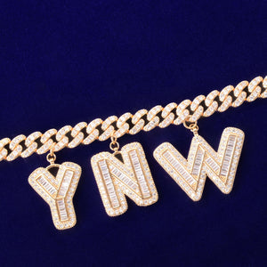 VVS Jewelry 10mm Custom Name Cuban Baguette Chain
