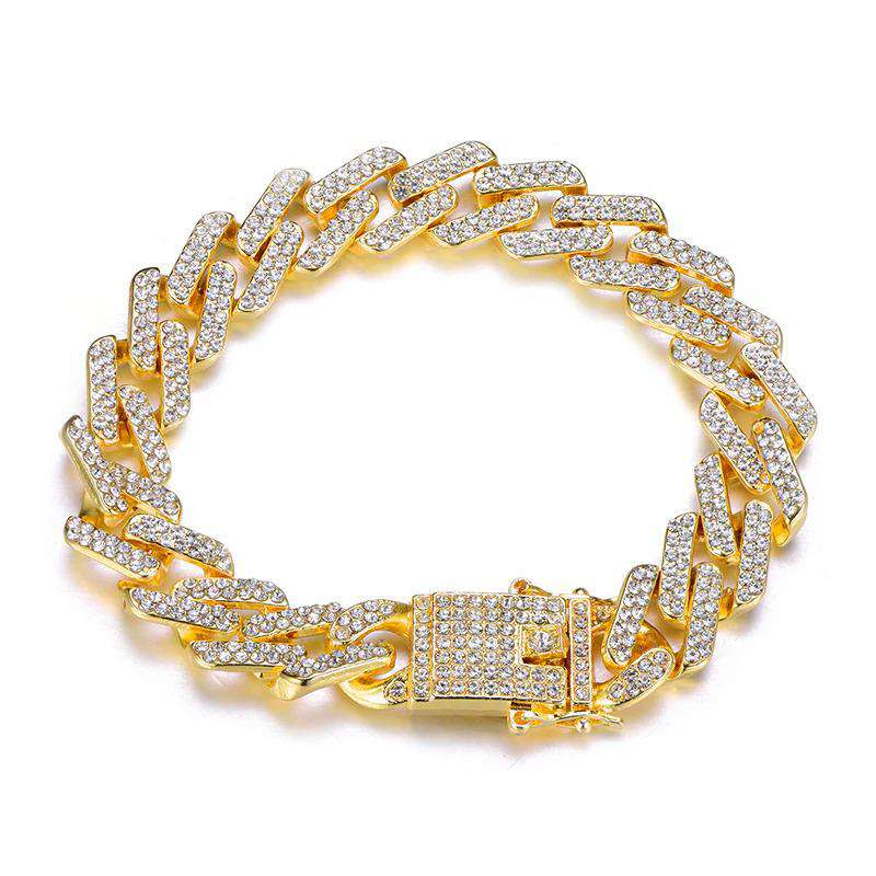 VVS Jewelry Premium 6mm 24k Gold Tennis Bracelet + Free Cuban Bracelet Bundle (Today Only)