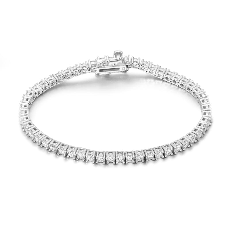 VVS Jewelry 925 Sterling Silver VVS1 Moissanite Diamond 4mm Tennis Bracelet