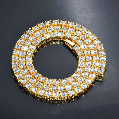 3mm 14k Gold Plated Mens Tennis Chain