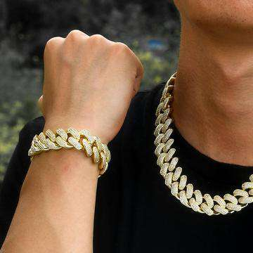 18k Gold/Silver Cuban Chain + FREE Cuban Bracelet Bundle - (TODAY ONLY)