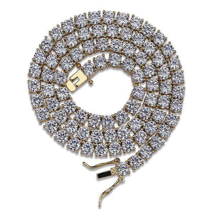 18k Gold AAA CZ 4mm Tennis Chain