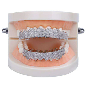 Gold/Platinum Full Bling Grillz Set
