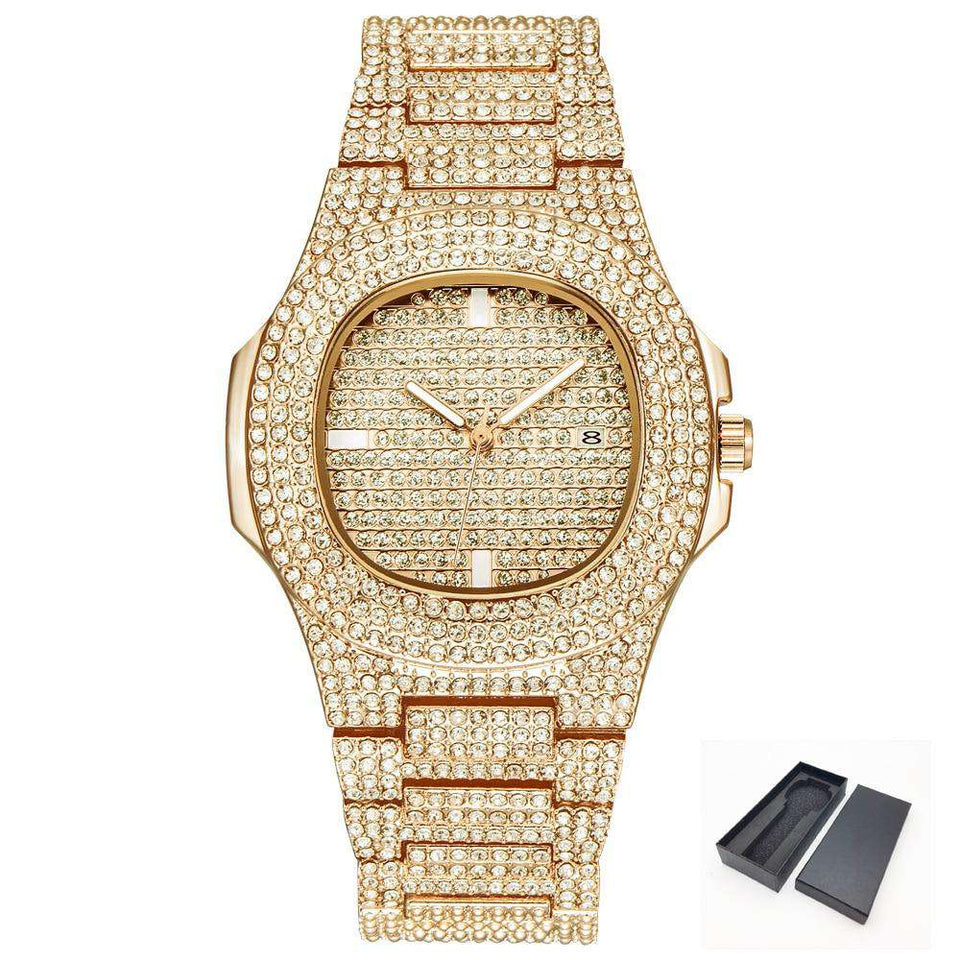 18k Gold Bust Down Watch