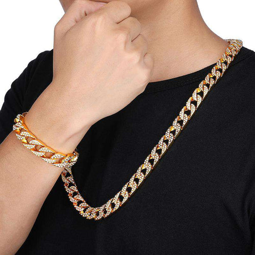 VVS Jewelry 14k Gold/Silver Chain + FREE Bracelet Bundle - (TODAY ONLY QUICK DELIVERY)