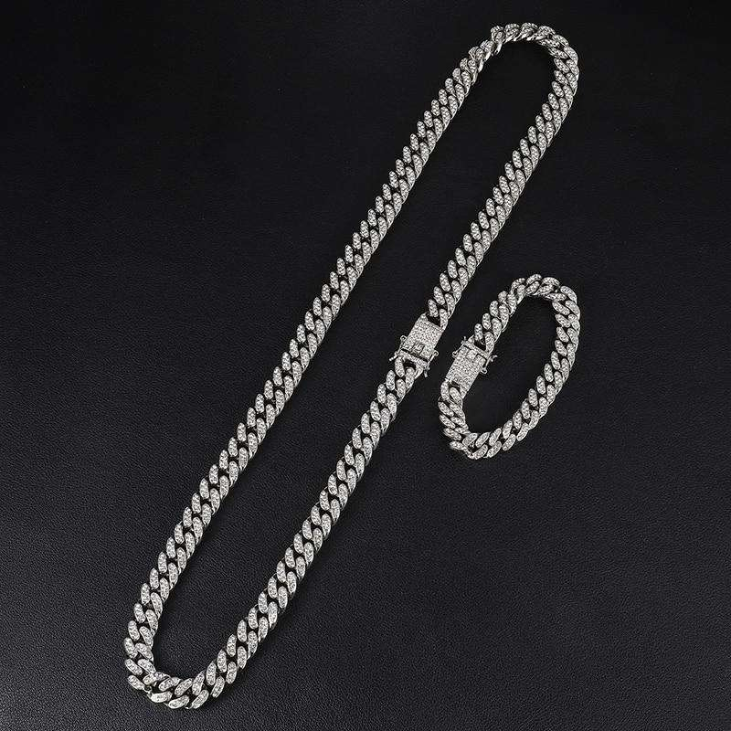 iced out diamond chain