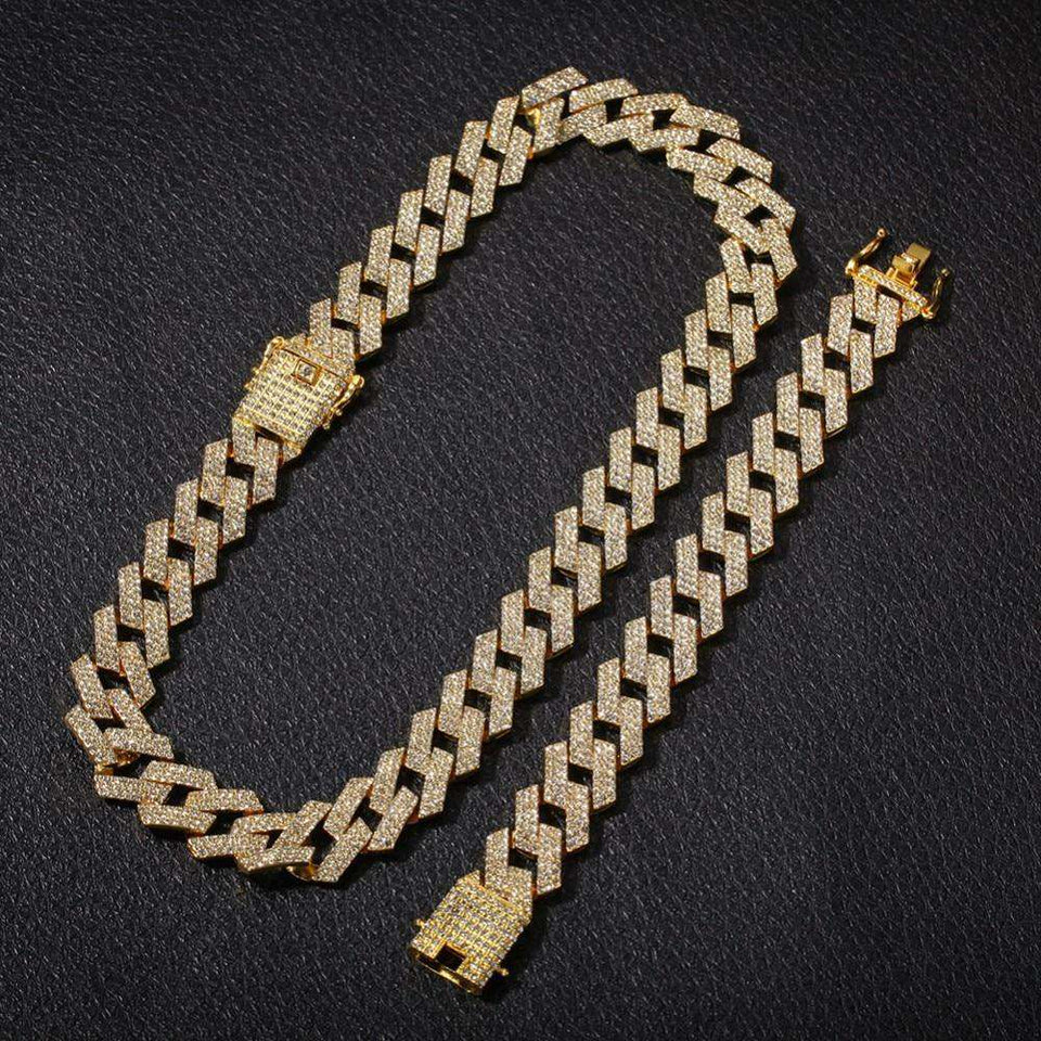 Extra Thicc 20mm Miami Prong Cuban Chain & FREE Bracelet