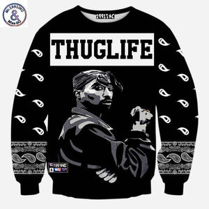 2Pac On Tha Block Pullover - no-stylist-bling