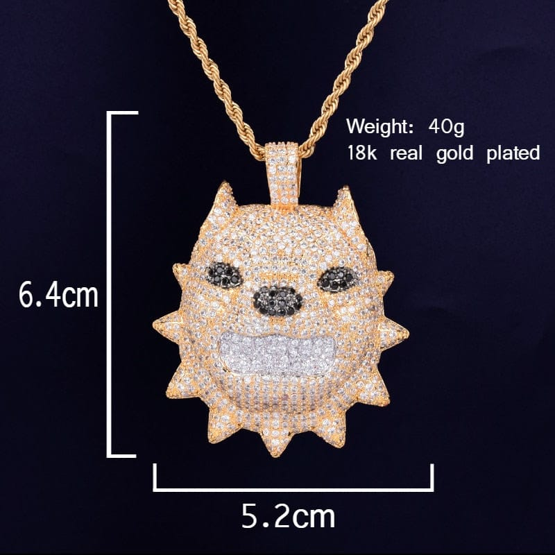 Bully Dog Head Pendant Chain