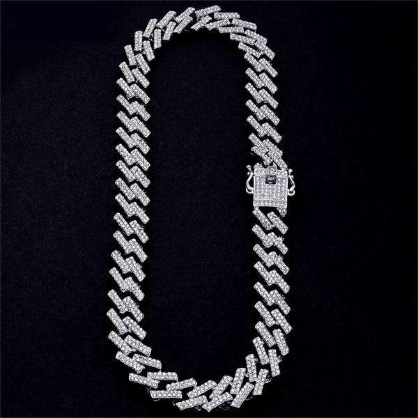 18k Thicc 15mm Gold/SIlver S-Link Cuban Chain & FREE Cuban Bracelet Bundle