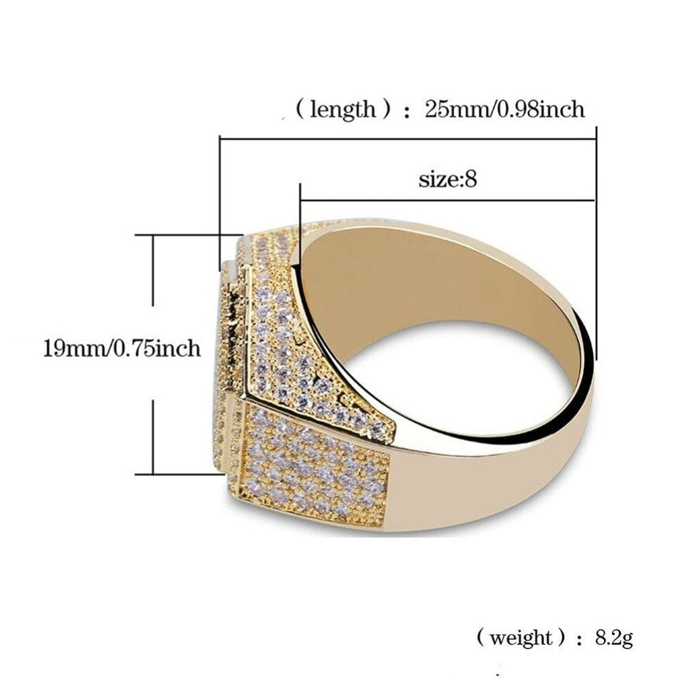 Gold/Silver Poly Geometric Ring