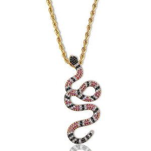 Gucci Snake 14k Gold Pendant Necklace