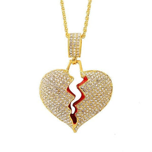 VVS Jewelry Broken Heart Pendant